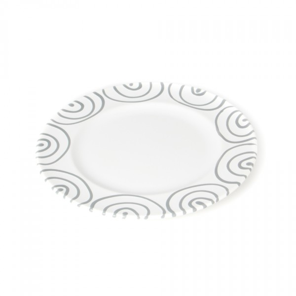 Gmundner Keramik Graugeflammt Teller m. Fahne Gourmet (TDGO18) 18 cm