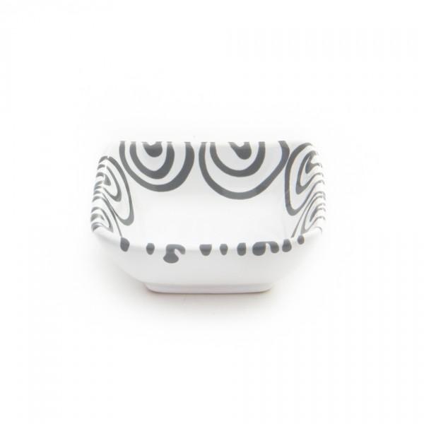 Gmundner Keramik Graugeflammt Schälchen quadratisch (SAQU09) 9cm