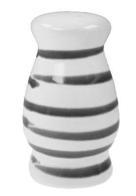 Gmundner Keramik Graugeflammt Salzstreuer bauchig (SLBC09) 9 cm
