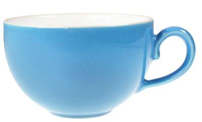 Friesland Happymix Azurblau NEU-Kaffeeobere innen weiß 0,24l