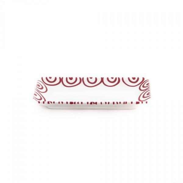 Gmundner Keramik Rotgeflammt Snack-Schale (SASN22) 22 x 11cm