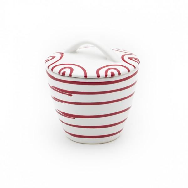 Gmundner Keramik Rotgeflammt Zuckerdose Gourmet (DZGO09) 9 cm