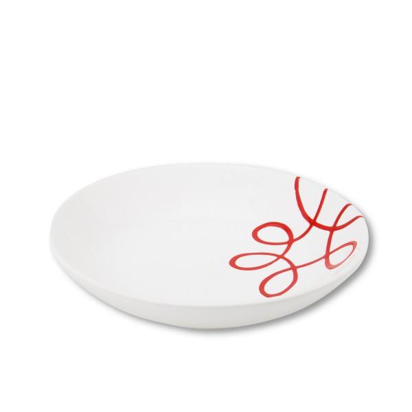 Gmundner Keramik Pur Geflammt Rot Suppenteller Cup TSCU20 20 cm
