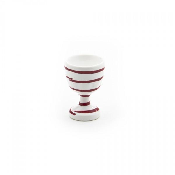 Gmundner Keramik Rotgeflammt Eierbecher glatt classic m. Fuß (BEGL05) 6 cm