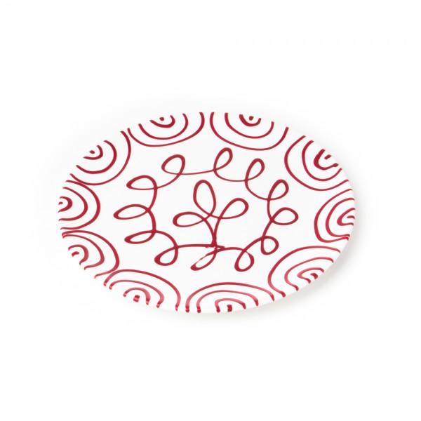 Gmundner Keramik Rotgeflammt Speiseteller Cup classic (TFCU28) 28 cm