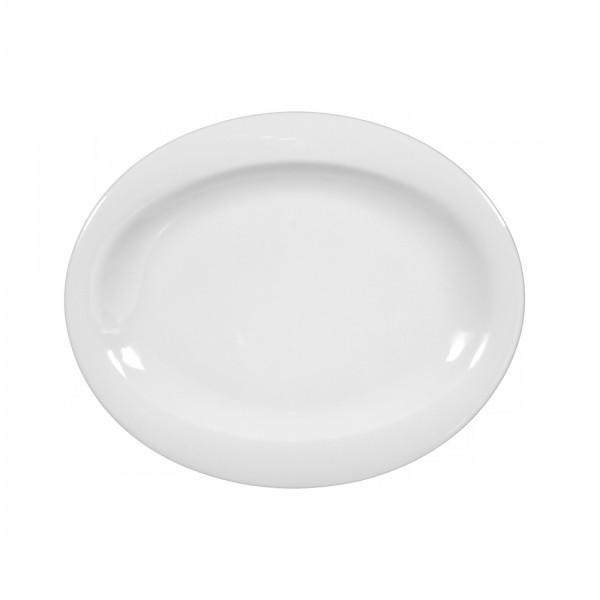 Seltmann Top Life uni weiß Brotteller oval 19 cm