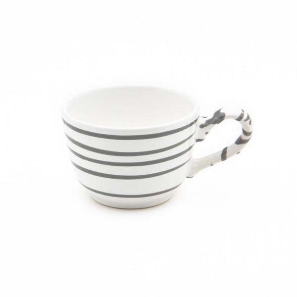 Gmundner Keramik Graugeflammt Kaffee-Obertasse glatt classic (TKGL10) 0,19 l