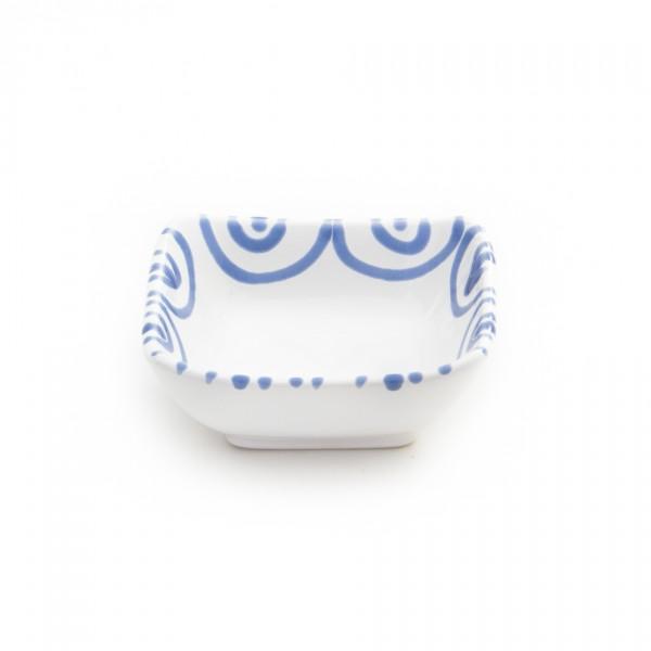 Gmundner Keramik Blaugeflammt Schälchen quadratisch (SAQU09) 9cm