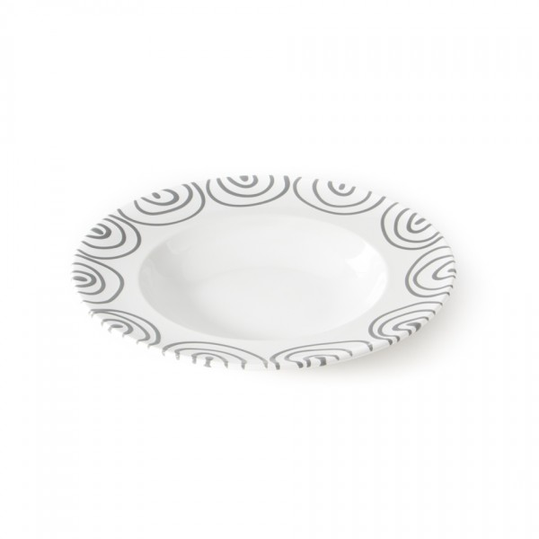 Gmundner Keramik Graugeflammt Pastateller Gourmet (TEGO29) 29 cm