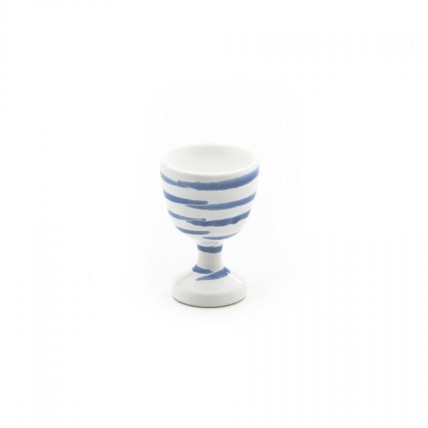 Gmundner Keramik Blaugeflammt Eierbecher glatt classic m. Fuß (BEGL05) 6 cm