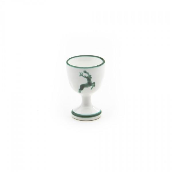 Gmundner Keramik Grüner Hirsch Eierbecher auf Fuß (BEGL05) 6 cm