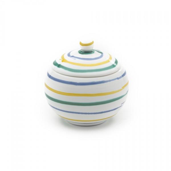 Gmundner Keramik Buntgeflammt Zuckerdose glatt DZGL09 10cm