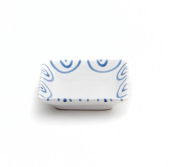 Gmundner Keramik Blaugeflammt Snack-Schale (SASN11) 11 x 11cm