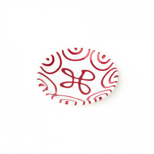 Gmundner Keramik Rotgeflammt Kaffee-/Tee-Untertasse glatt classic (TUCU15) 15 cm