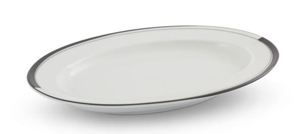 Friesland La Belle Black & White Platte oval (1)/Saucieren-Unterteil 24 cm