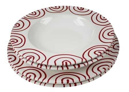 Gmundner Keramik Rotgeflammt Dinner for two, Gourmet (STMG04SET)