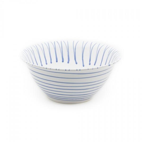 Gmundner Keramik Blaugeflammt Salatschüssel rund (SRSA33) 33 cm