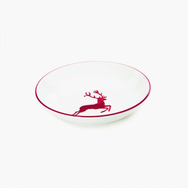 Gmundner Keramik Rubinroter Hirsch Suppenteller Cup (TSCU20) 20 cm