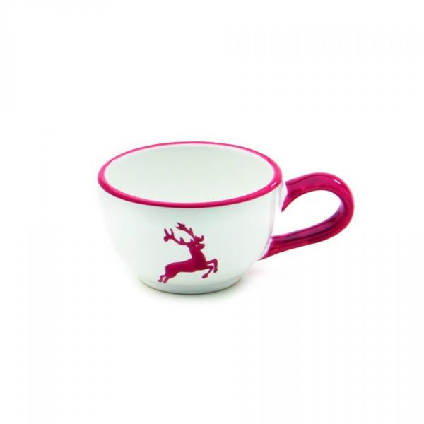 Gmundner Keramik Rubinroter Hirsch Espresso-/Mokka-Obertasse glatt (TMGL07) 0,6l