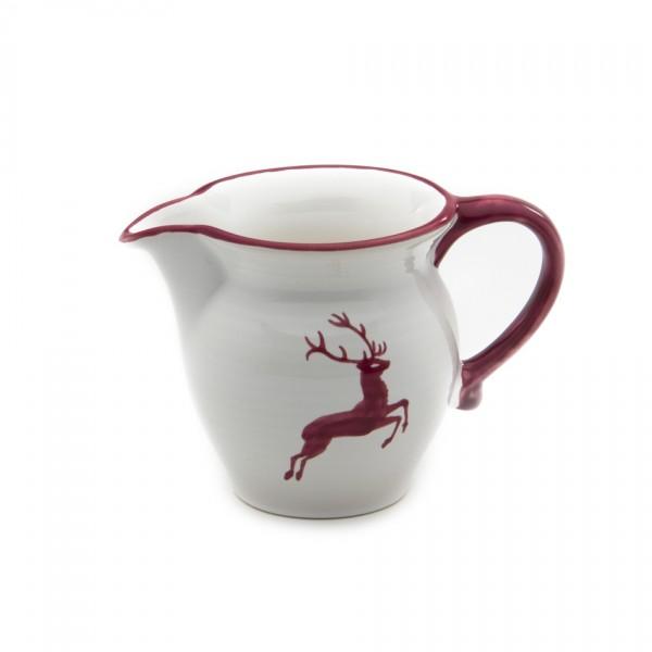 Gmundner Keramik Bordeauxroter Hirsch Gießer/Milch glatt (GMGL07) 0,5 l