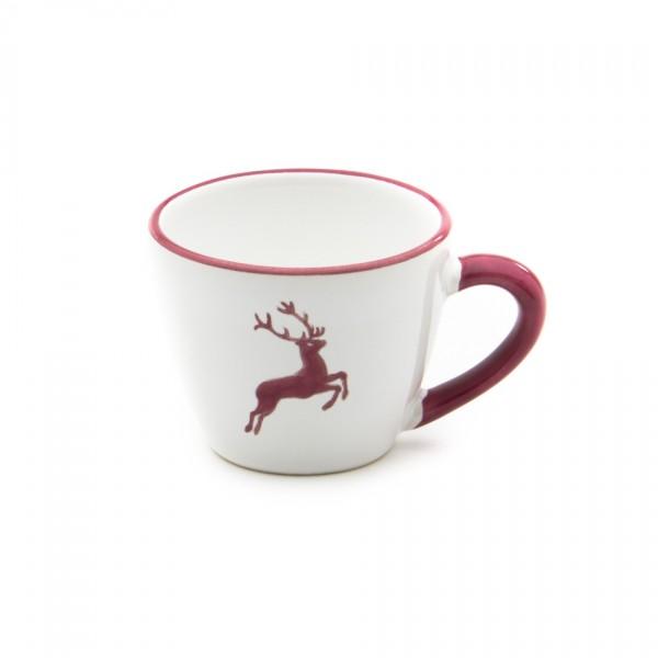Gmundner Keramik Bordeauxroter Hirsch Espresso-Obertasse Gourmet (TEGO06) 0,06 l