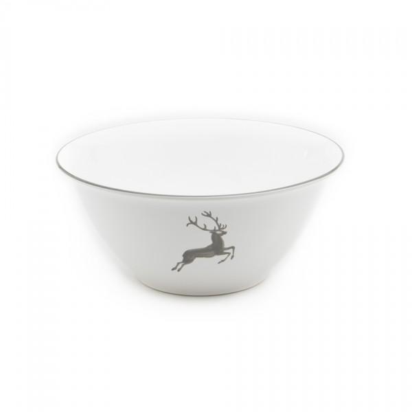 Gmundner Keramik Grauer Hirsch Salatschüssel rund (SRSA33) 33 cm