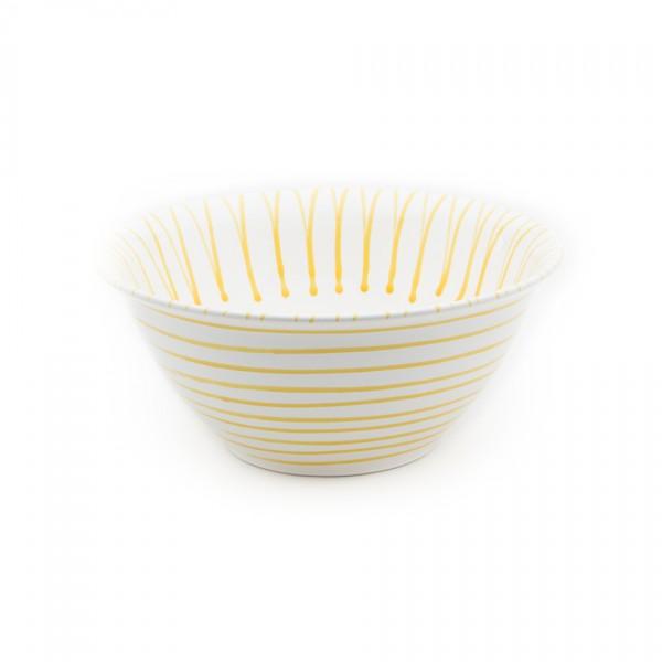 Gmundner Keramik Gelbgeflammt Salatschüssel rund classic (SRSA33) 33 cm